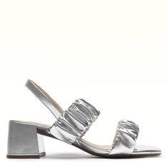 Sandalia Prata Metalizada Mirella