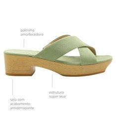 Plataforma Janine Tecido Verde