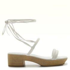 Sandália Branco Tapioca Janine