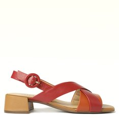 Sandália Vermelha Multi Tiras