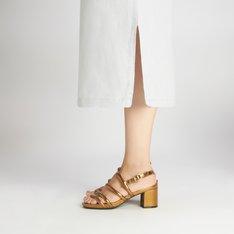 Sandália Prateada Bronze