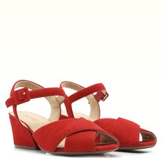 Sandália Vermelha Nobuck Bibiana