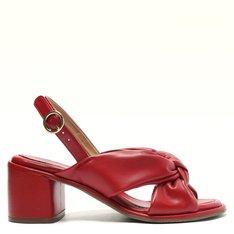 Sandália Vermelha Nó