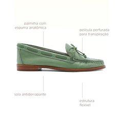 Moc Telma Couro Verde