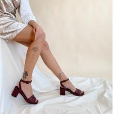 Sandália Vermelho Vino Antônia