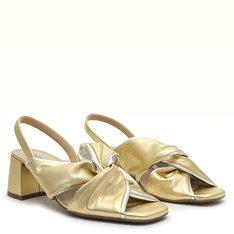 Sandália Dourada/Prateada Cris